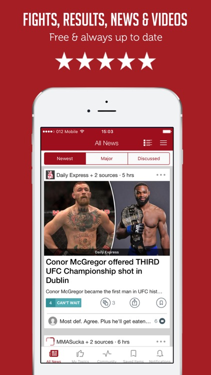 MMA Ultimate Fighting - News, Results & Rumors