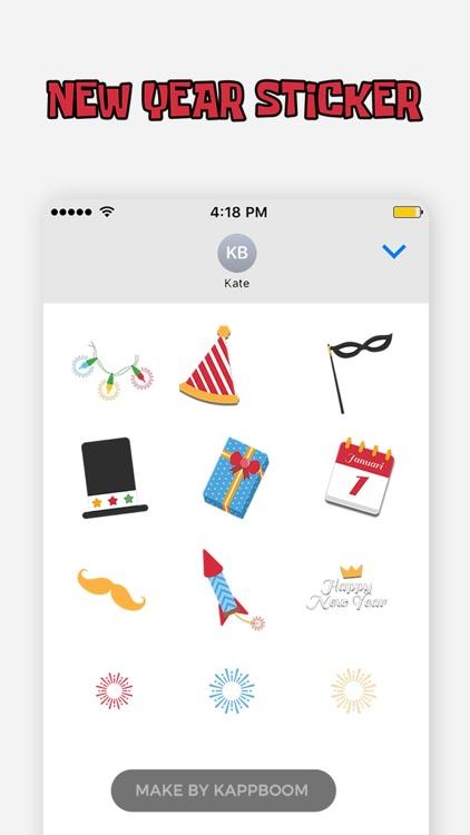Funny New Year Stickers screenshot-4