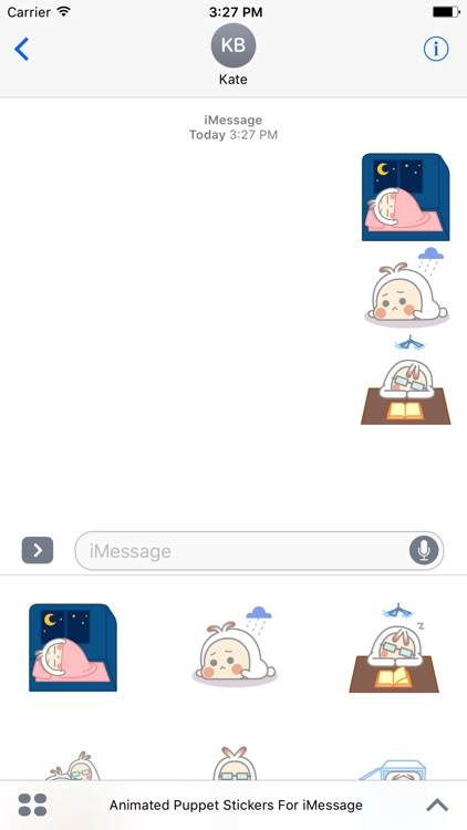 Animated Cute Puppet Stickers For iMessage