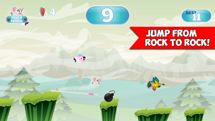 Piggy Patrol Jump Adventure