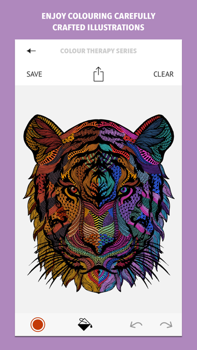 Colour Therapy: An Adult Colouring Book Screenshot