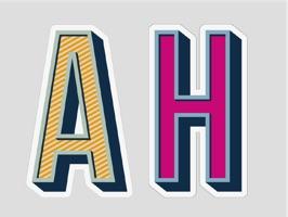 Anya Hindmarch Alphabet Stickers