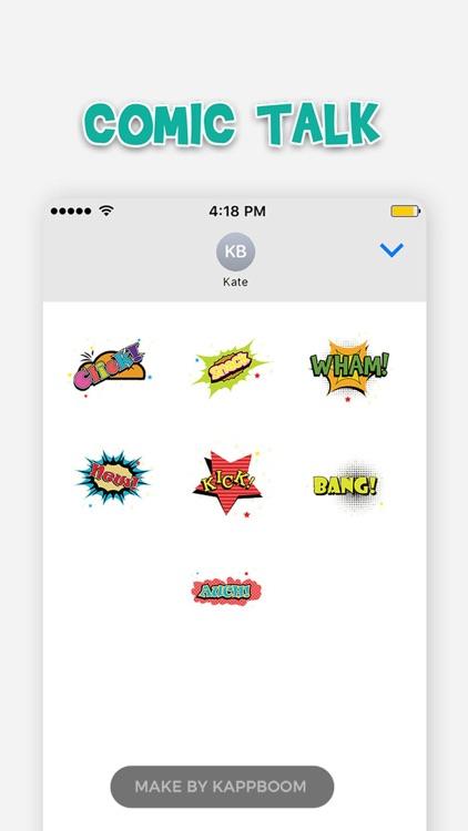 Comic Talk Stickers screenshot-4