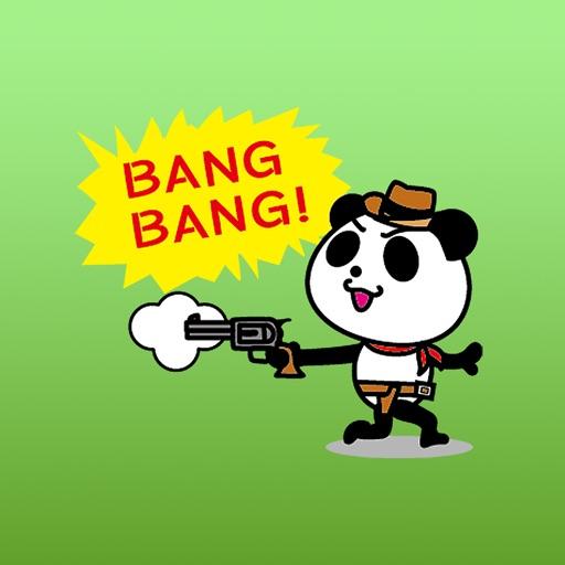 Cowboy Jack the panda stickers 2