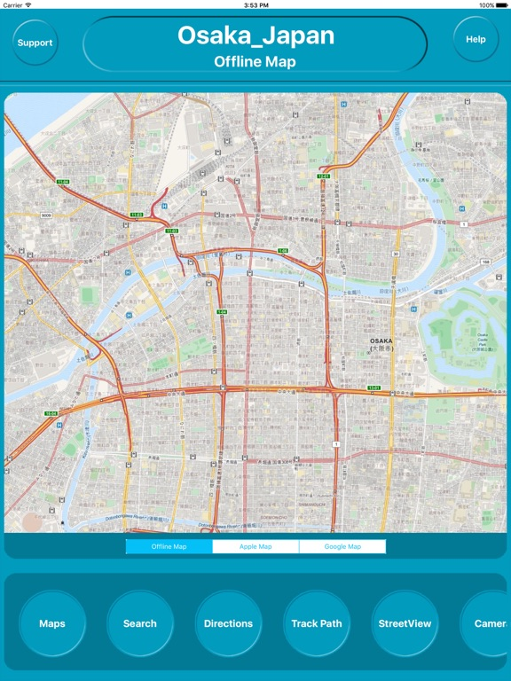 Osaka Japan Offline City Maps Navigation Transit App Price Drops