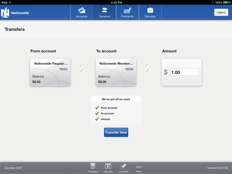 Nationwide Bank for iPad screenshot-3