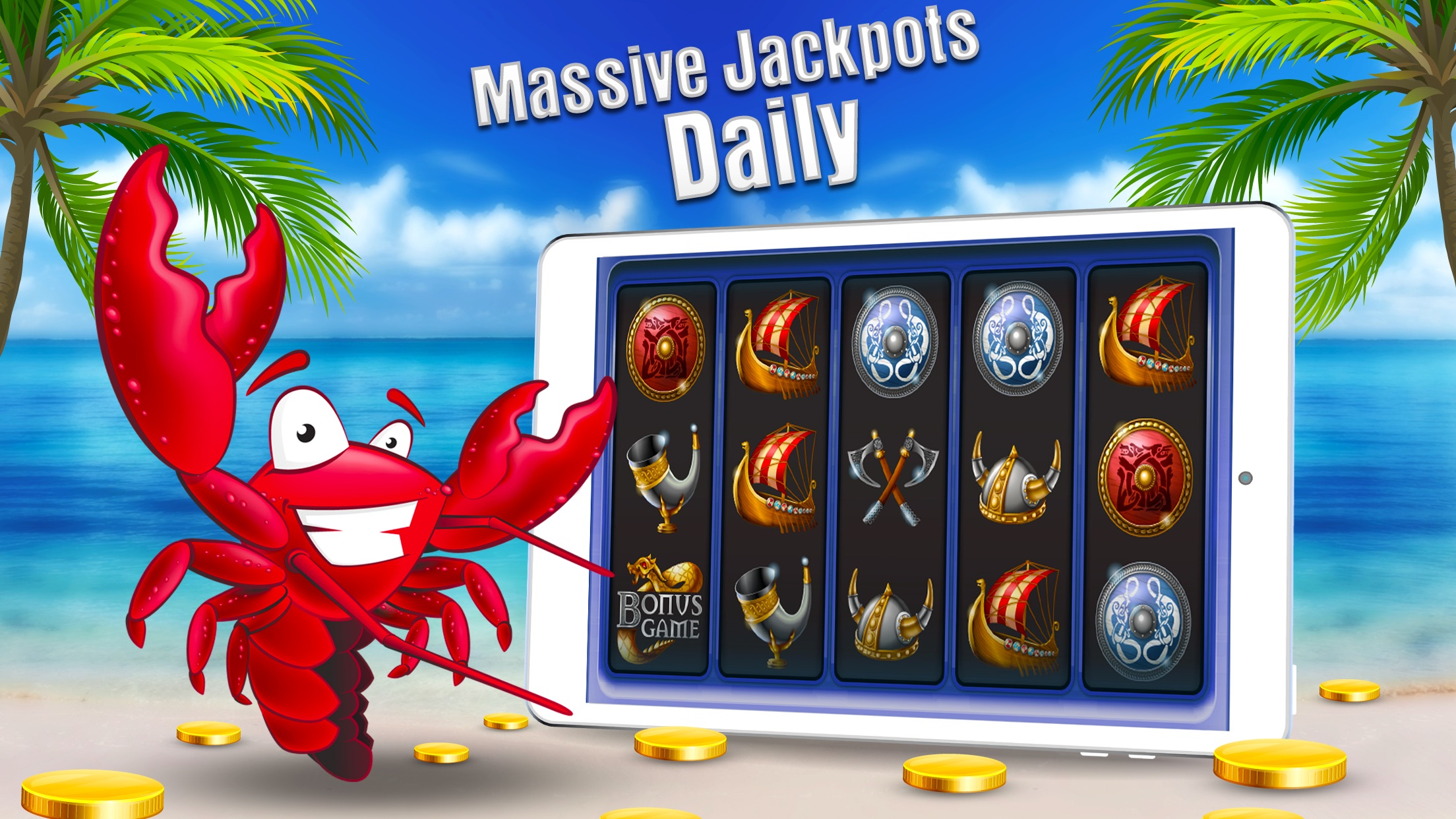 Free Casino Games - Lucky Lobster Slots Screenshot