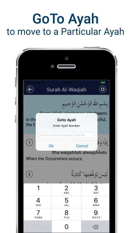 Surah Waqiah Mp3 - with Translation & Recitation screenshot-4