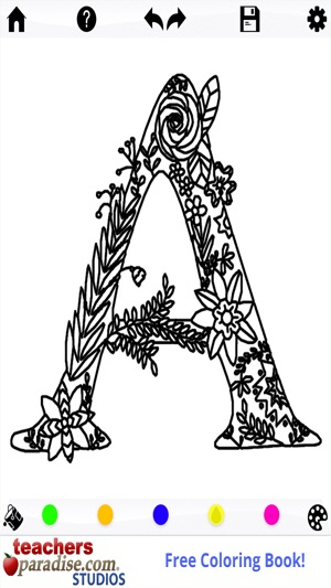 Adult Coloring Books Alphabet On The App Store