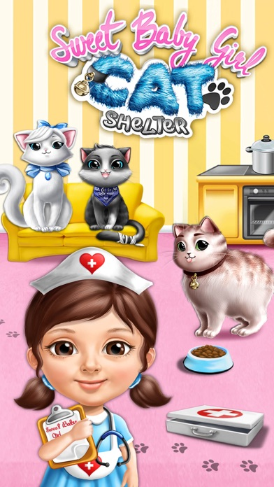 Sweet Baby Girl Cat Shelter – No Ads screenshot 1