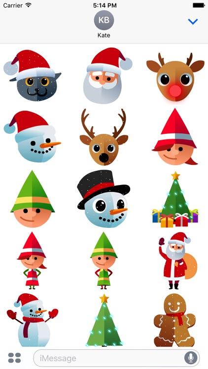 Santa's Christmas Stickers by Pheebo
