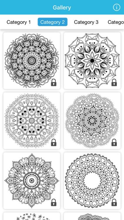 coloring book mandala art therapy nature for adult screenshot-3