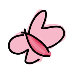 Pink sticker, cute love baby stickers for iMessage