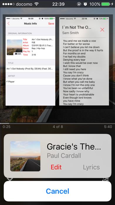 F Player - Music MP3 Player 音楽 Screenshots