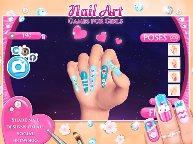 Nail Art Games For Girls Top Star Manicure Salon On The App Store