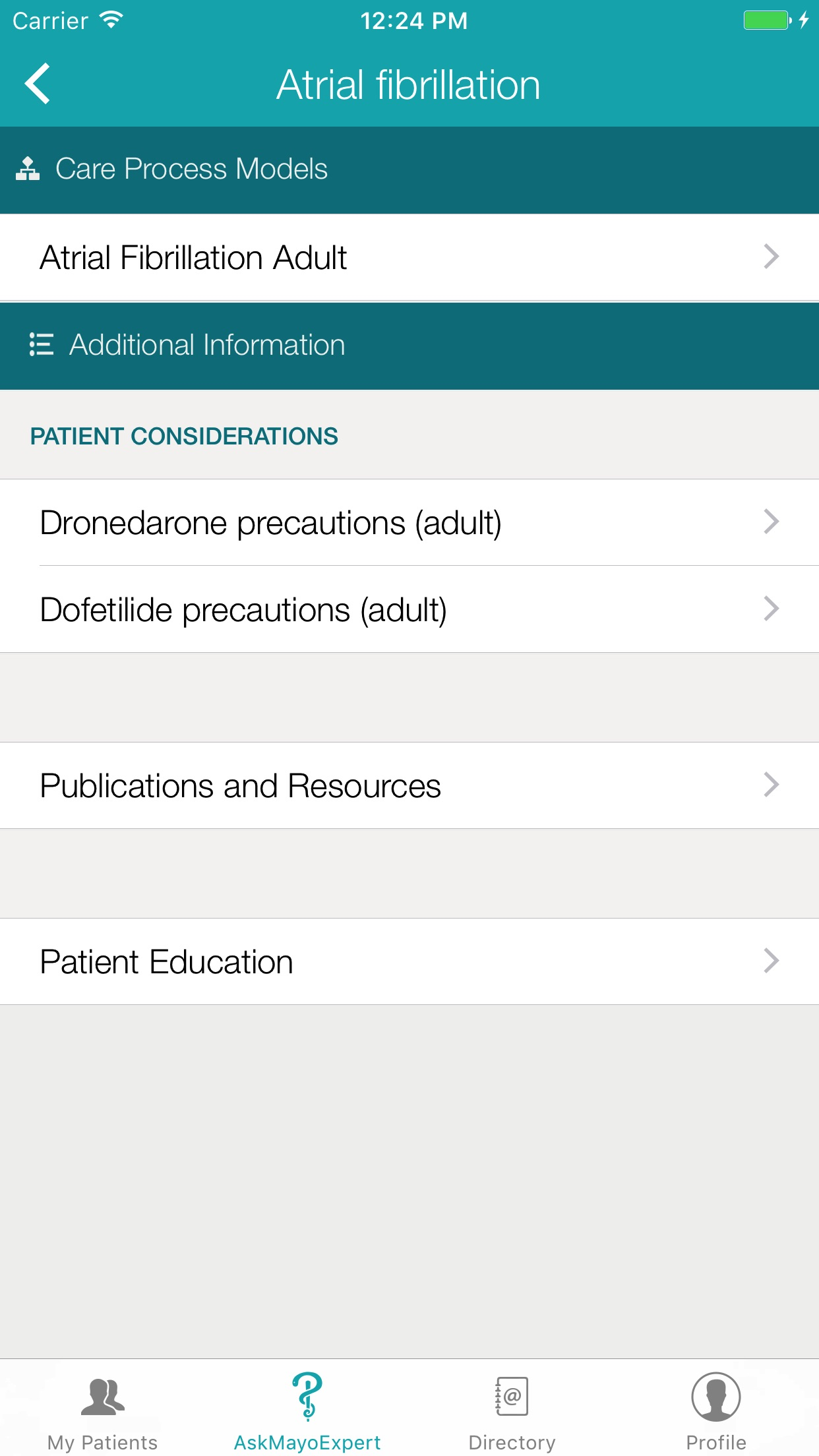 Mayo Clinic for Medical Professionals Screenshot