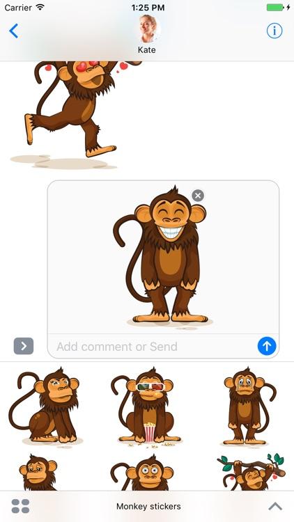 Monkey - Stickers for iMessage screenshot-3