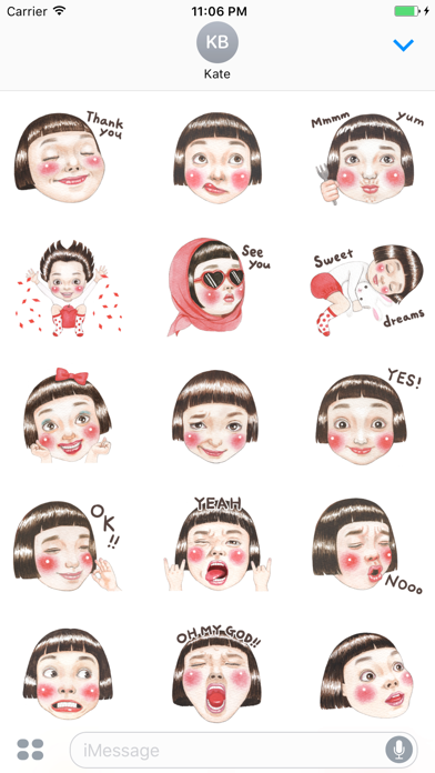 Yazmin The Lovely And Happy Girl English Stickers screenshot one