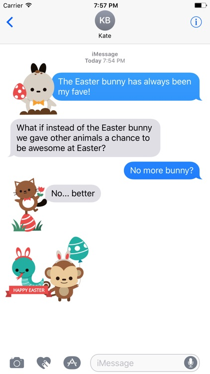 Easter Bunny versus Sticker Pack
