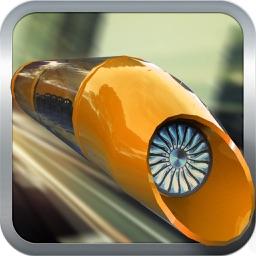 Hyperloop Transport Train:Space-EX Bullet Train 17