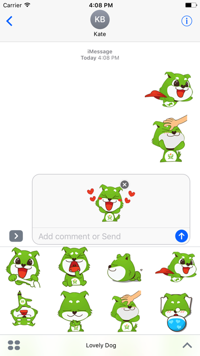 Lovely Dog - Animated Dog Stickers And Emoticons