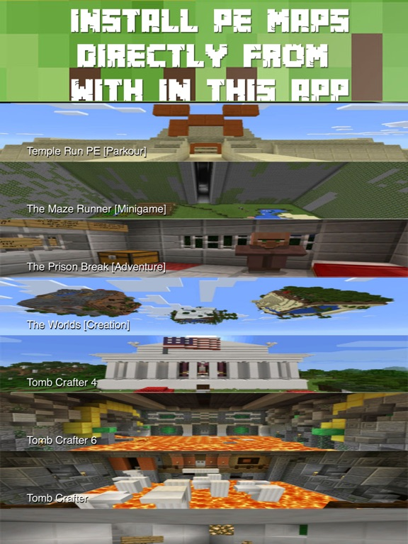 Maps for Minecraft PE FREE - One Touch Install | App Price Drops