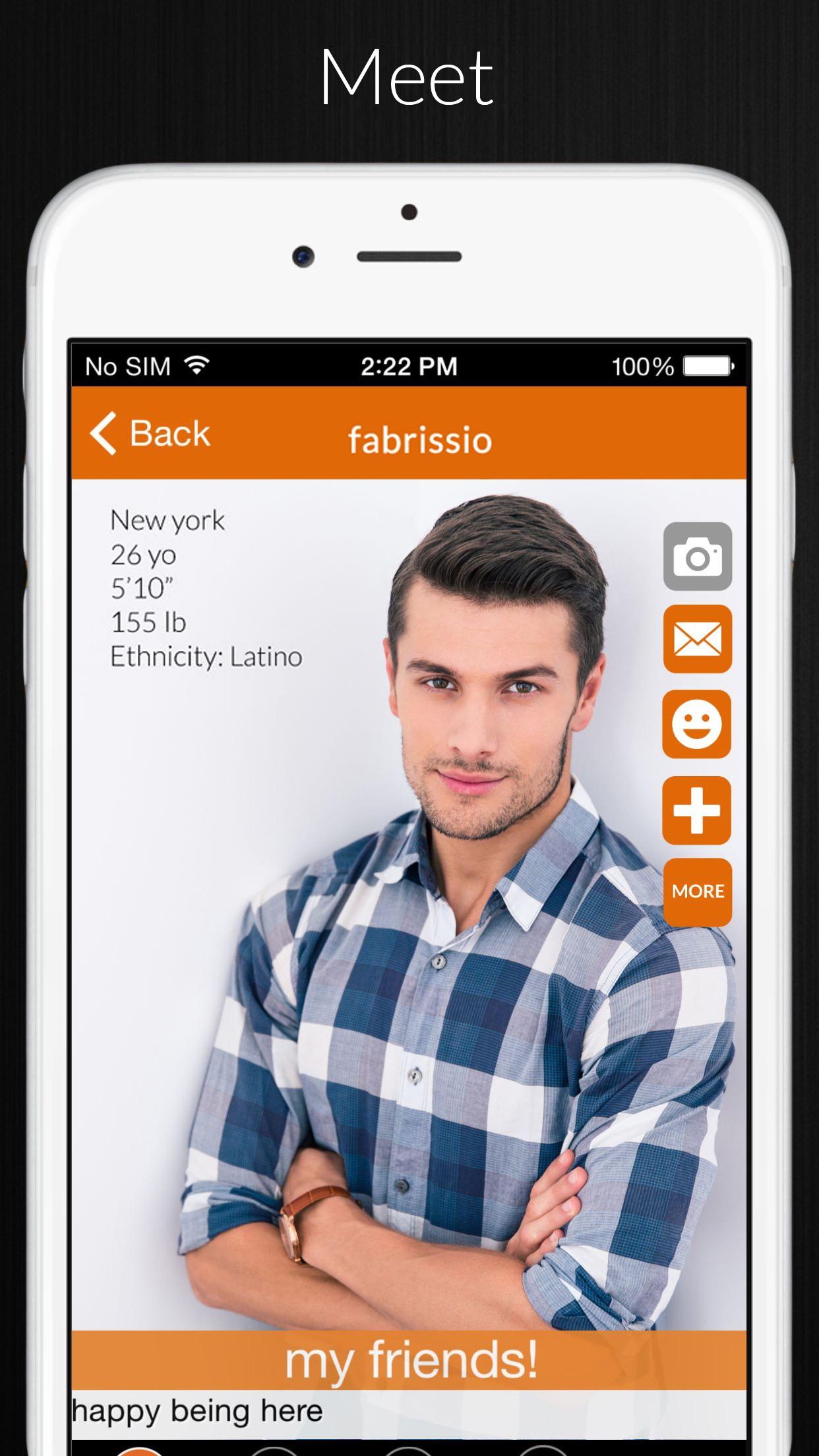 A4A adam4adam gay dating chat social network Screenshot