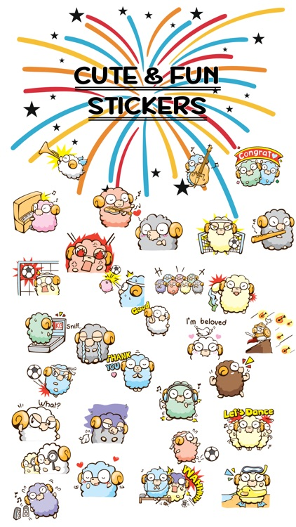 Freaky The Lamb Stickers