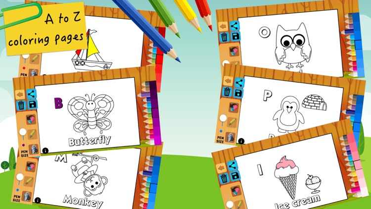 ABC coloring pages painting for kids learning screenshot-4