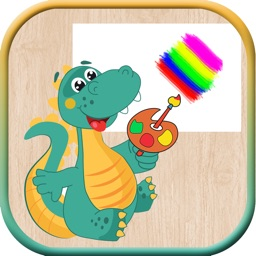 Dinosaur Game Coloring Page For Kids