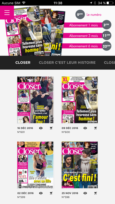 Screenshot #1 pour Closer Magazine