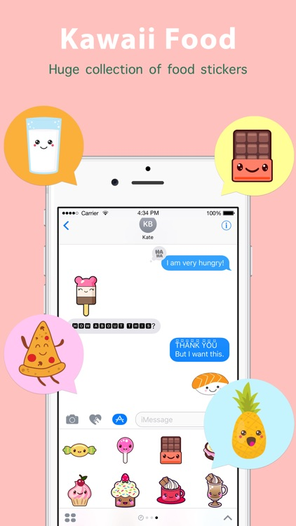 Kawaii Food Sticker screenshot-0