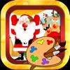 聖誕老人- 聖誕-畫畫-圣诞快乐-畫畫板遊戲·幼兒塗鴉·寶寶填色·早教 ,儿童学画画免费