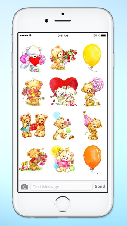 Teddy Bear Birthday and Love Sticker Pack screenshot-3