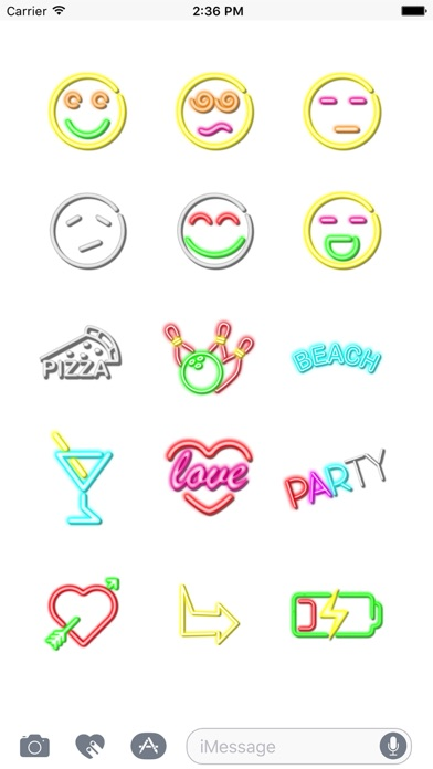 Neon Animated Stickers screenshot two