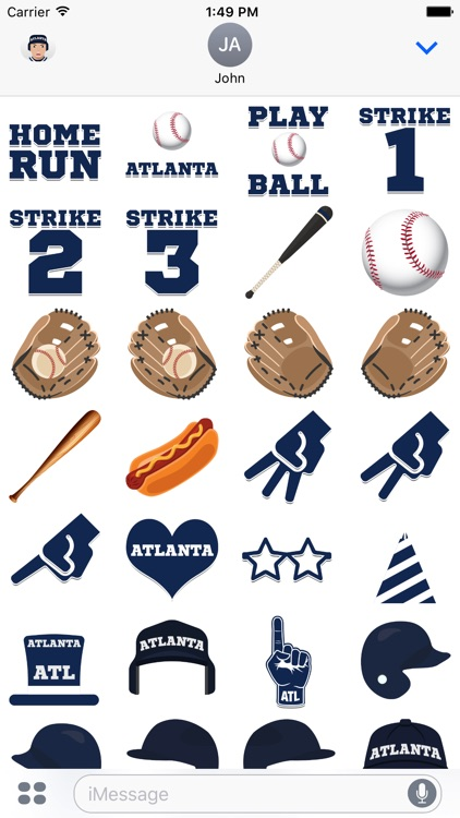 Atlanta Baseball Stickers & Emojis screenshot-3