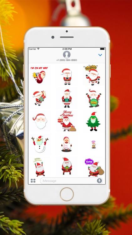 Xmas Santa Stickers