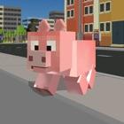 Blocky City Pig Simulator 3D icon