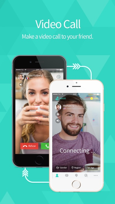 ARGO - Social Video Chat Screenshot on iOS
