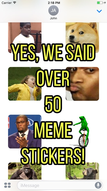 Tasty Memes - 50+ Funny, Famous Stickers of Memes