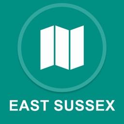 East Sussex, UK : Offline GPS Navigation