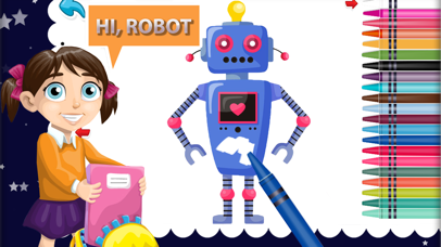 Robot Attack Paint - Superhero painting for kids screenshot two