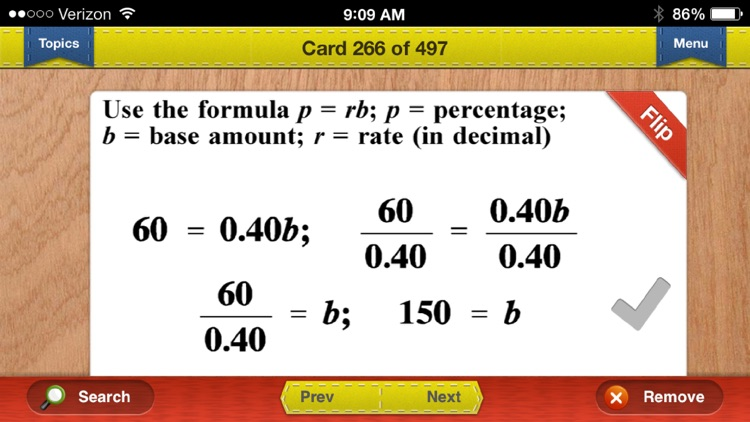 CAHSEE Exit Math Prep Flashcards Exambusters screenshot-3