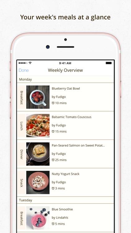 Fudigo – Healthy Personalized Recipes & Meal Plans screenshot-3