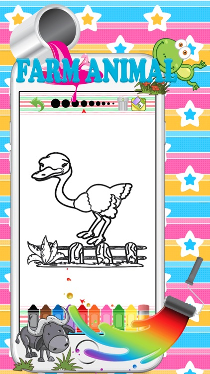 Farm animal pait : coloring pages for girls & boys screenshot-4