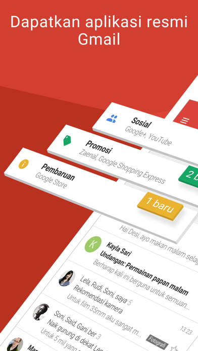 Screenshot for Gmail - Email oleh Google in Indonesia App Store