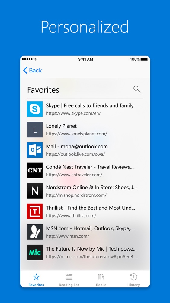 Microsoft Edge App for iPhone - Free Download Microsoft Edge