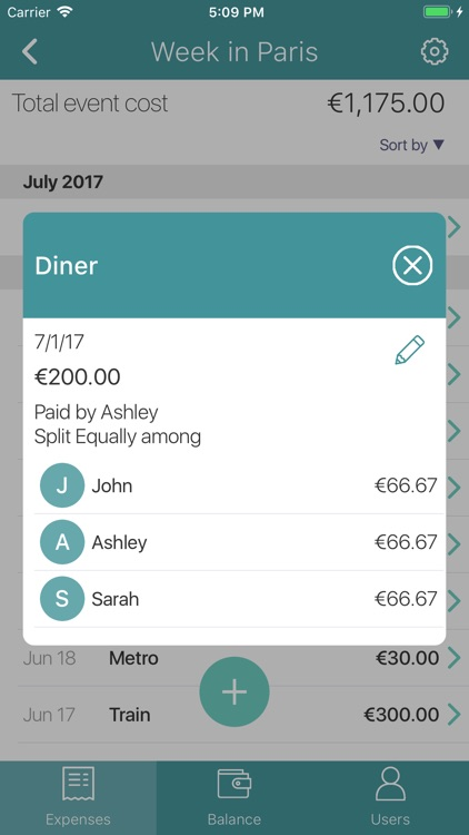 Split expenses & bills, costs screenshot-4
