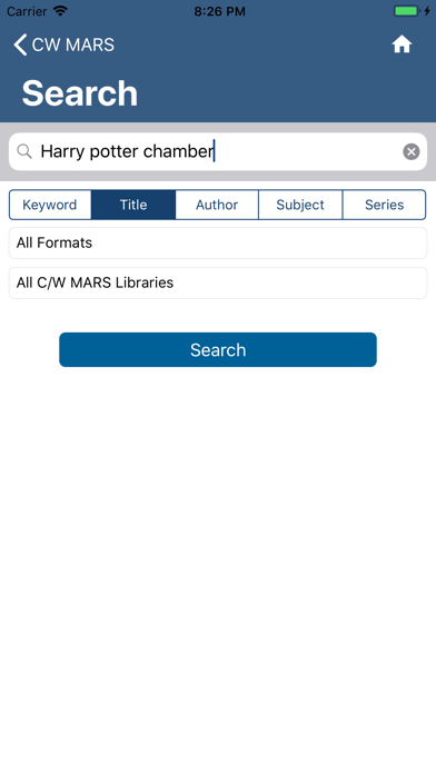 CW MARS LibrariesScreenshot of 3