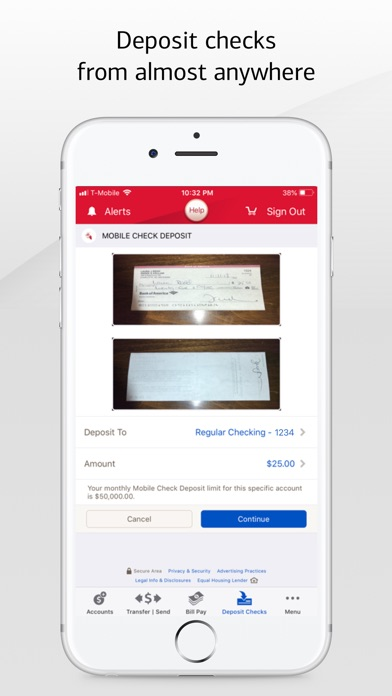 Bank of America Mobile Banking Screenshot on iOS
